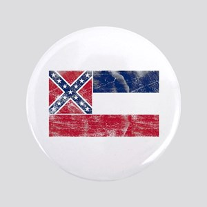 """Vintage MS State Flag 3.5"""" Button"""