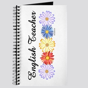 English Teacher Flowers Journal