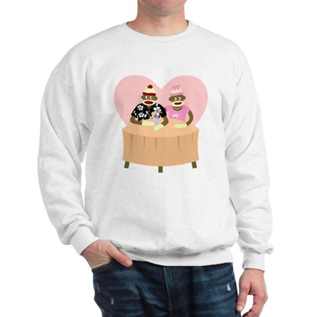 Sock Monkey Boy Girl Love Sweatshirt