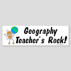 Geography Teacher's Rock Sticker (Bumper)