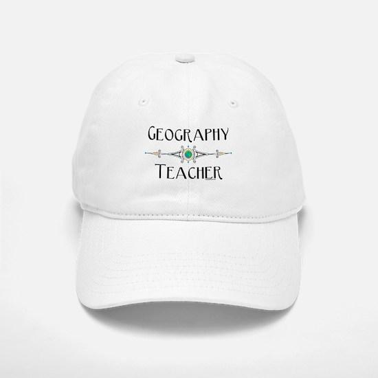 Geography Teacher Baseball Baseball Cap