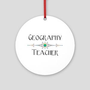 Geography Teacher Ornament (Round)