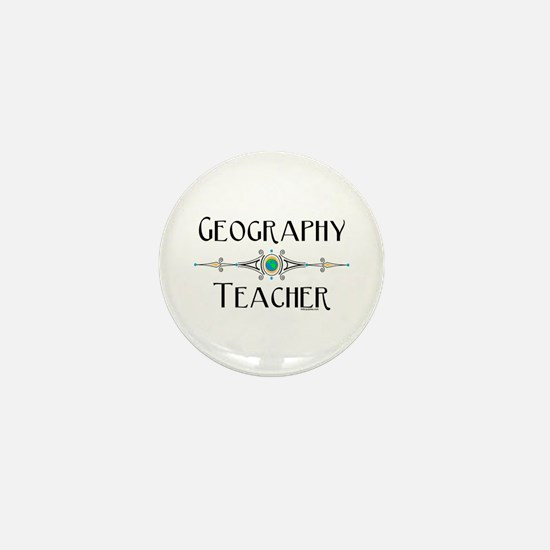 Geography Teacher Mini Button