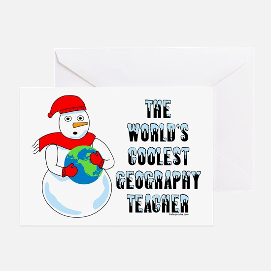 Cool Geography Teacher Greeting Card