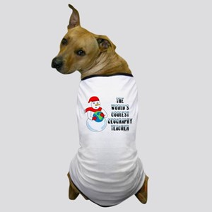 Cool Geography Teacher Dog T-Shirt
