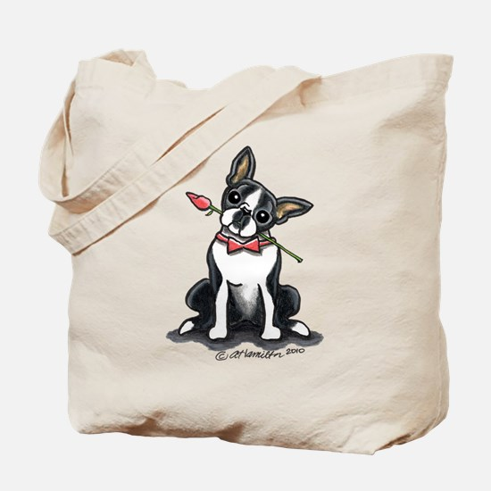 Boston Terrier Sweetheart Tote Bag