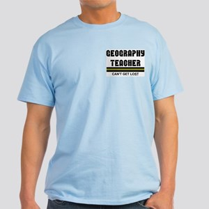 Geography Teacher Pocket Image Light T-Shirt