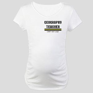 Geography Teacher Maternity T-Shirt