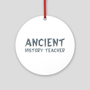 Ancient History Teacher Ornament (Round)