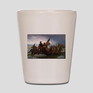 Washington Crossing the Delaware E Gott Shot Glass