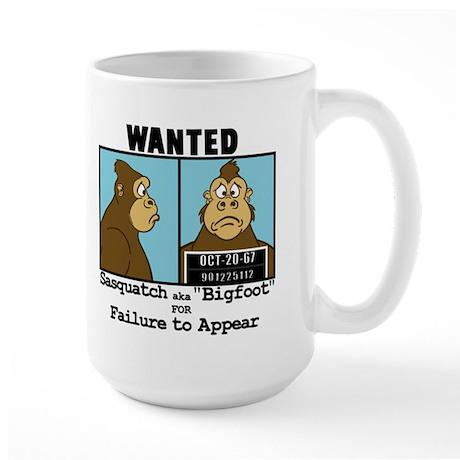 Wanted Bigfoot Large Mug