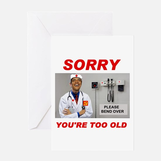 NO ROOM FOR SENIORS Greeting Card