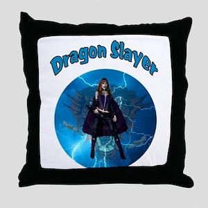 Dragon Slayer Throw Pillow