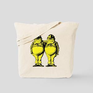 Tweedle Twins Yellow Tote Bag