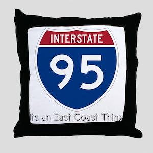 Highway 95 Throw Pillow