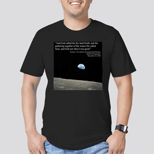 Earth Space Inspirational Men's Fitted T-Shirt (da