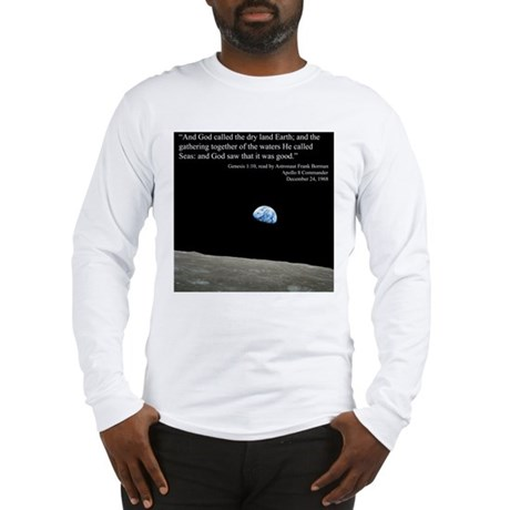 Earth Space Inspirational Long Sleeve T-Shirt