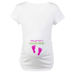 Baby Girl November Footprints Shirt