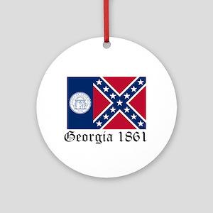 Secede Georgia Ornament (Round)