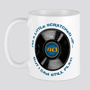 Scratched Record 40th Birthday Mug
