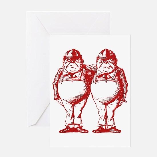 Tweedle Twins Red Greeting Card