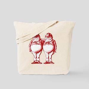 Tweedle Twins Red Tote Bag