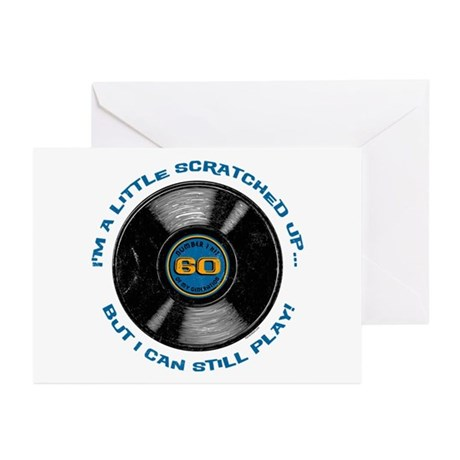 Scratched Record 60th Birthday Greeting Cards (Pk