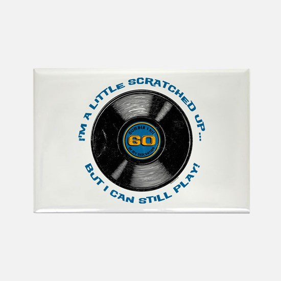 Scratched Record 60th Birthday Rectangle Magnet