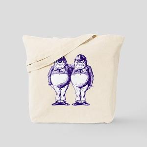 Tweedle Twins Purple Tote Bag