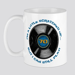 Scratched Record 70th Birthday Mug