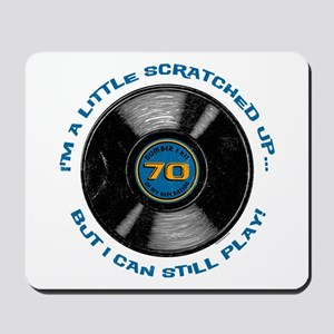 Scratched Record 70th Birthday Mousepad