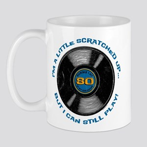 Scratched Record 80th Birthday Mug