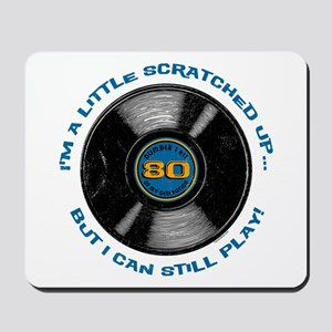 Scratched Record 80th Birthday Mousepad