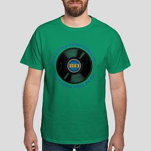 Scratched Record 80th Birthday Dark T-Shirt