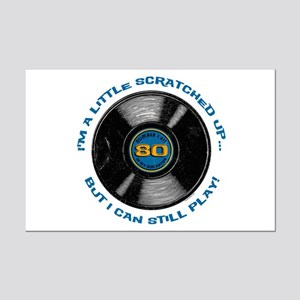 Scratched Record 80th Birthday Mini Poster Print