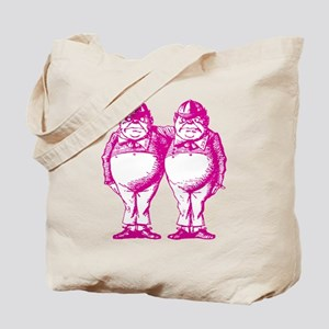 Tweedle Twins Pink Tote Bag