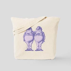 Tweedle Twins Lavender Tote Bag