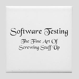 Software Testing Tile Coaster