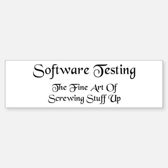Software Testing Sticker (Bumper)