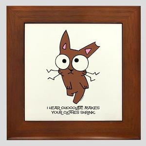 Chocolate Bunny Shrink Framed Tile