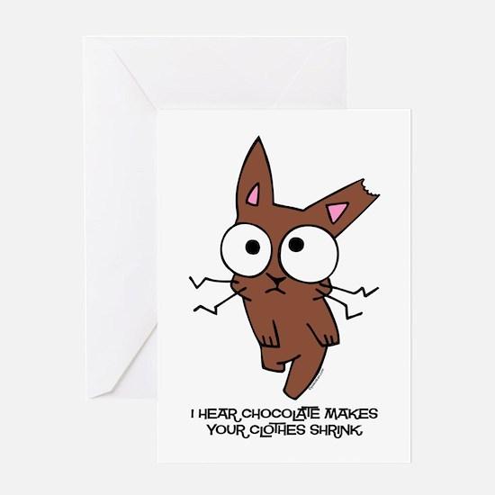 Chocolate Bunny Shrink Greeting Card