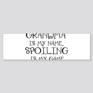 Grandma is my name Sticker (Bumper)