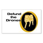Defund the Drones bumper sticker