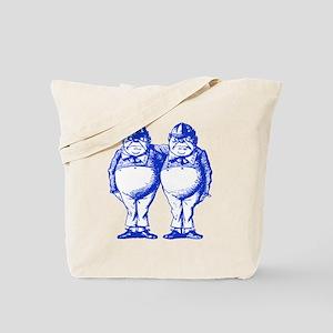 Tweedle Twins Blue Tote Bag