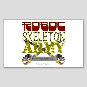 Robot Skeleton Army Sticker (Rectangle)