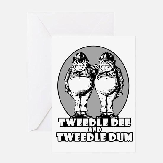 Tweedle Twins Logo Greeting Card