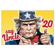 Uncle Trump President 2020 Large Poster