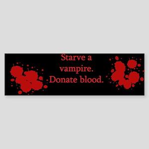 Starve A Vampire Sticker (Bumper)