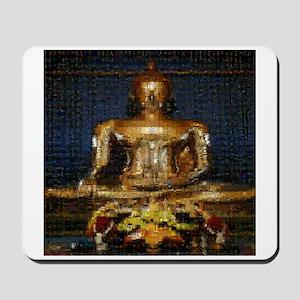 Golden Buddha Photo Montage Mousepad