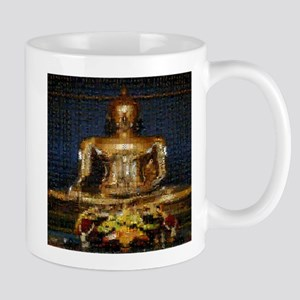 Golden Buddha Photo Montage Mug